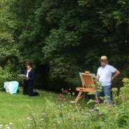 Art class visit to Lewis Cottage 15th June 2014