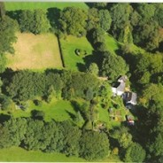 Lewis Cottage from the air